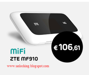 How to unlock Belgium Base ZTE MF 910 pocket wifi device and